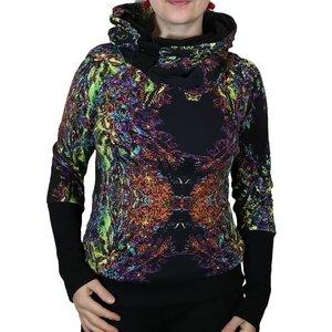 """KapOn """"Neon Favours"""" Kleid oder Pullover Jersey Print schwarz/bunt - liebewicht"""