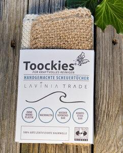 Spültücher in Doppeltpack - Jute und Baumwolle - Toockies
