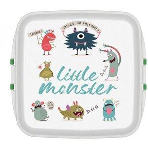Kleine Lunchbox mit Druck Monster 11 x 11 x 5 cm - Biodora