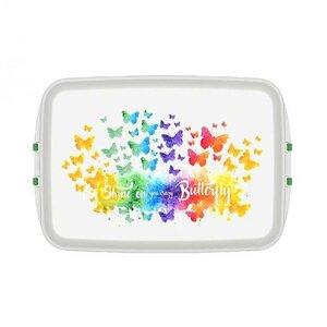 Lunchbox mit Druck Butterfly 12x18x5cm - Biodora