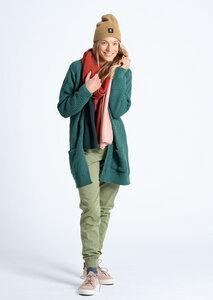 Damen Strickjacke aus Bio Baumwolle grün   Cardigan - recolution