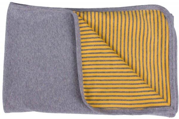popolini baby decke gelb grau 90x70 bio baumwolle avocadostore. Black Bedroom Furniture Sets. Home Design Ideas