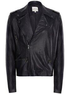 Biker-Jacke aus schwarzem veganem Nappa für Herren - Will's Vegan Shop