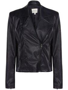 Schwarze Vegane Biker-Jacke für Damen - Will's Vegan Shop