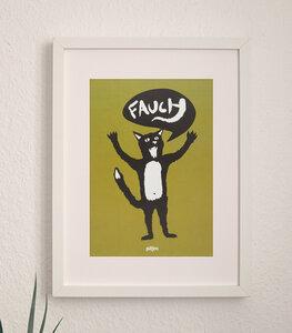 Ferdinand Fauch Katze - Poster A4 - päfjes