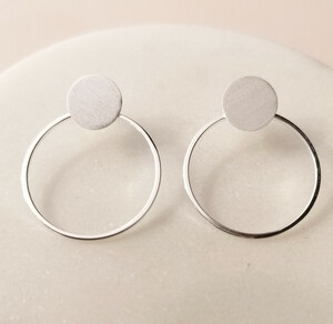 Doppel-Ohrstecker Ring aus 925er Sterling Silber - LUXAA