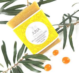 Juna Bio-Pflanzenöl Seife Sanddorn und Citrus - Küstenseifen Manufaktur