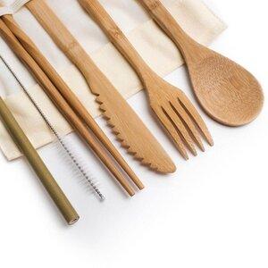 Bambus Besteck-Set für unterwegs | 5-teilig - samebutgreen