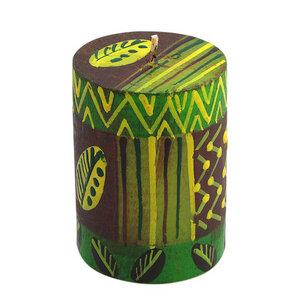 Bunte Kerzen - BABA - M/L - Handbemalte Stumpenkerzen - nobunto Südafrika - Nobunto