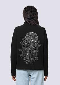 Yoga Qualle, Damen Zipper Sweatshirt, Fair, Vegan und Nachhaltig - vis wear