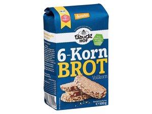 "Bauckhof Bio-Backmischung ""6-Korn-Brot"", 500 g - Bauckhof"