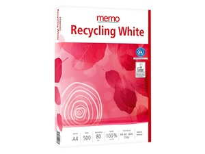 500 Blatt memo Kopierpapier 'Recycling White' DIN A4, 80 g/m² - memo