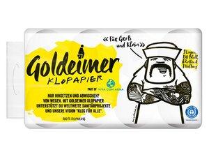 Goldeimer Klopapier, 3-lagig, 8 Rollen - Goldeimer