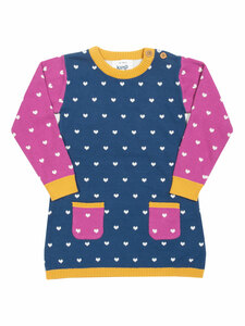 Baby und Kinder Strick-Kleid Herzchen reine Bio-Baumwolle - Kite Clothing