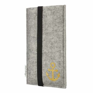 Handyhülle COIMBRA mit Anker für Fairphone - 100% Wollfilz - Filz Schutz Tasche - flat.design