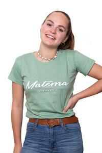 "T-Shirt ""Kawaida Mint"" aus Biobaumwolle - Damen - Matema"