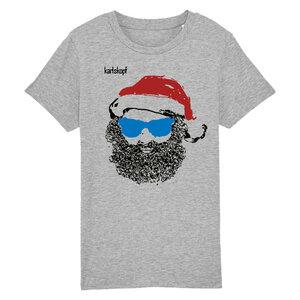Bedrucktes Kinder T-Shirt aus Bio-Baumwolle SANTA KARL - karlskopf