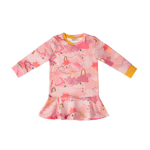 Sweatkleid mit Alloverdruck Rainbowstar - Marraine Kids