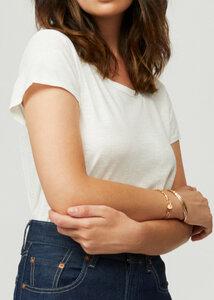 Matilda Damen Rundhals-Neck Kurzarm T-Shirt Bio Baumwolle - d'Els chic essential
