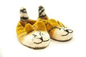 Filz Hausschuhe Tiger für Kinder und Erwachsene - short'n'pietz