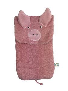 "Wärmflasche ""Schwein"" , incl. Wärmflasche Fa. Sänger aus Naturgummi - Pat und Patty"