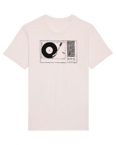 """Herren T-Shirt """"Plattenspieler"""" aus Biobaumwolle Fair Wear Vintage White - ilovemixtapes"""