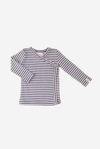 Bio Baby Wickelshirt geringelt in verschiedenen Farben - Finn - Lana naturalwear
