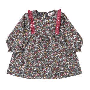 Baby LA Kleid grau bedruckt Bio People Wear Organic - People Wear Organic