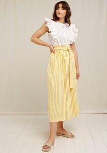 Midi Rock - Betty Striped Skirt - aus Bio-Baumwolle  - People Tree
