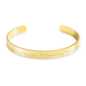 Armreif Statement | Edelstahl vergoldet in den Farben Gold, Silber oder Roségold inkl. Geschenkbox - Oh Bracelet Berlin