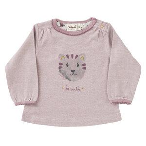 Baby und Kinder Langarm-Shirt rosa Be Wild reine Bio-Baumwolle - People Wear Organic