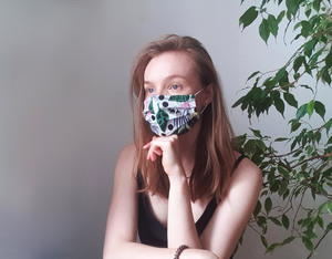 HH FACEMAX Gesichtsmaske aus Bio-Baumwolle mit Nasenbügel Mund-Nasen-Maske - Himal Hemp