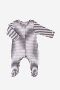Bio Schlafanzug / Strampler Merle mit Fuß - Lana naturalwear