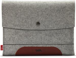 iPad AIR 2 Hülle MERINO 100% Wollfilz, Natur Leder - Pack & Smooch