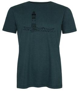 Herren T-Shirt Papierhafen aus Biobaumwolle teal black ILK01 Made in Kenia - ilovemixtapes