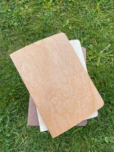 Echtholz Notizheft A6 - Ahorn, Kirsche oder Nuss - echtholz
