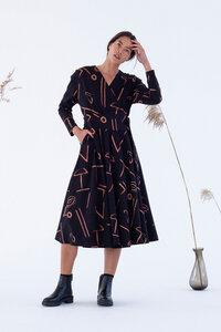 Damen Midi-Kleid Ina mit Print - Suite 13