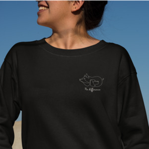 Organic Damen Sweatshirt No difference - BVeganly