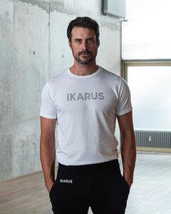"""Männer Yoga Set aus Bio-Baumwolle & Modal """"Prometheus"""" weiss/schwarz mit Bold Print - IKARUS"""
