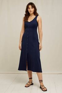 Midi Kleid - Anya Rib Dress - aus Bio-Baumwolle  - People Tree