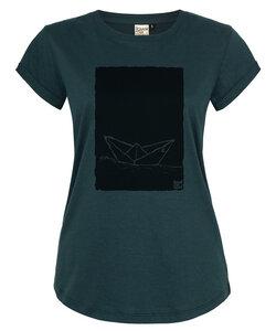 Paperboat 2.0 Papierschiff Organic Women Shirt _ teal / ILK02 - ilovemixtapes