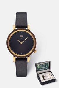 Geschenk - Box mit Damenuhr und Armband 'LUISE' & 'Triangle Bracelet' - Kerbholz