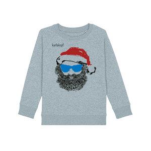 Bedruckte Kinder Sweater aus Bio-Baumwolle SANTA KARL - karlskopf