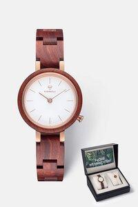 Geschenk - Box mit Damenuhr und Armband 'MATILDA' & 'Circle Bracelet' - Kerbholz