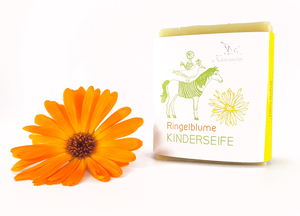 Bio-Kinderseife / Bioseife für Kinder mit Ringelblume - Küstenseifen Manufaktur