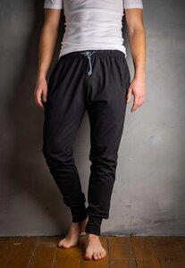 Herren Jogpants lang mit Seitentaschen, Single Jersey, reine Bio Baumwolle, GOTS zertifiziert, Made in Europe - Haasis Bodywear