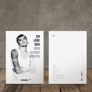 Postkarten Bonobo & friends, 3 Stück, Recyclingpapier, WEARETHEFUCKINGLEADERS - WEARETHEFUCKINGLEADERS