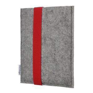 e-Book Reader Hülle LAGOA für Kindle - 100 % Wollfilz - hellgrau - flat.design