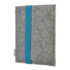 e-Book Reader Hülle LAGOA für Kindle - 100 % Wollfilz - grau - flat design by Mareike Kriesten