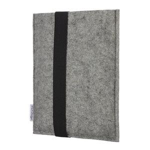 e-Book Reader Hülle LAGOA für Tolino - 100 % Wollfilz - grau - flat design by Mareike Kriesten